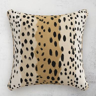 """Linen Leopard Pillow 20"""""""