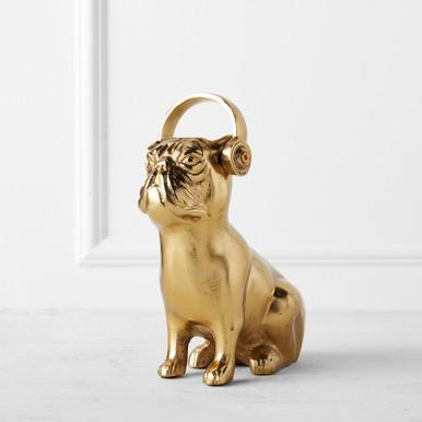 Bulldog With Headphones