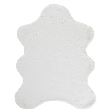 Lapin Animal Shape Rug - White