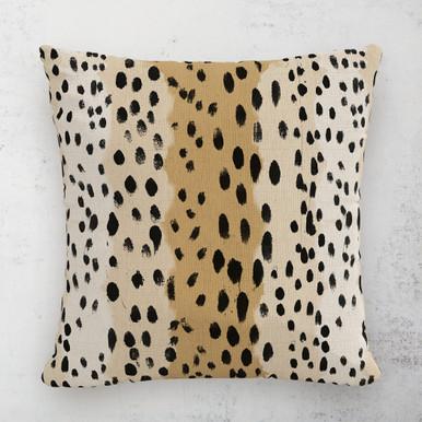 """Linen Leopard Outdoor Pillow 18"""""""