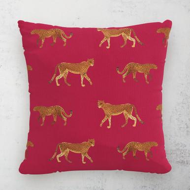 """Cheetah Walk Outdoor Pillow 18"""""""
