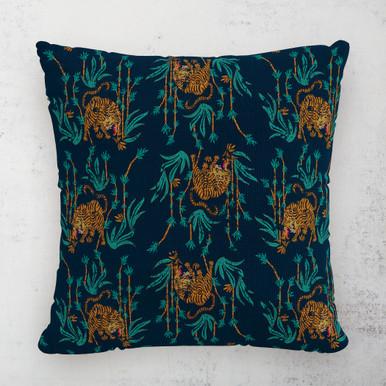 "Tiger Bamboo Outdoor Pillow 18"""