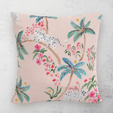 """Palm Leopard Outdoor Pillow 18"""""""