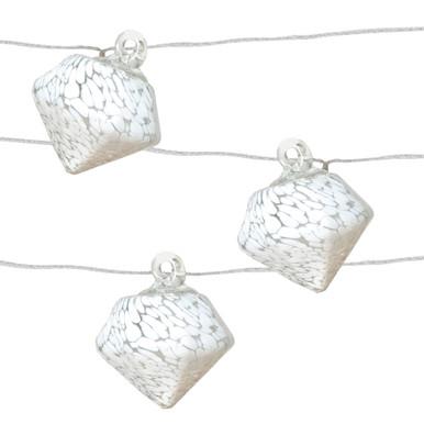 Aurora Glow Solar String Lights - White Diamond