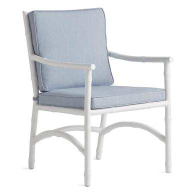 Savannah Outdoor Dining Arm Chair - Chambray