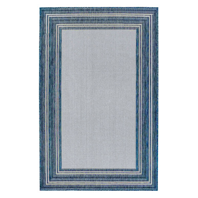 Border Outdoor Rug - Navy