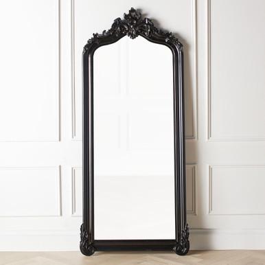 Tudor Mirror - Glossy Black