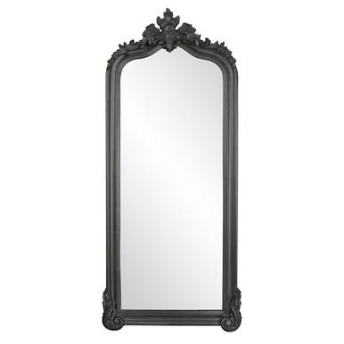 Tudor Mirror - Glossy Charcoal