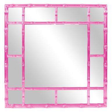 Bamboo Mirror - Glossy Hot Pink