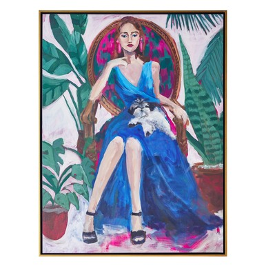 Portrait With Ferns
