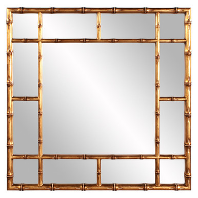 Bamboo Mirror - Country gold