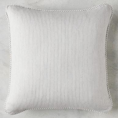 Pinstripe Slate Outdoor Pillow - Set of 2