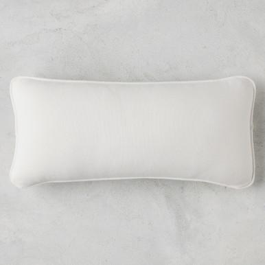Linen Snow Outdoor Lumbar Pillow