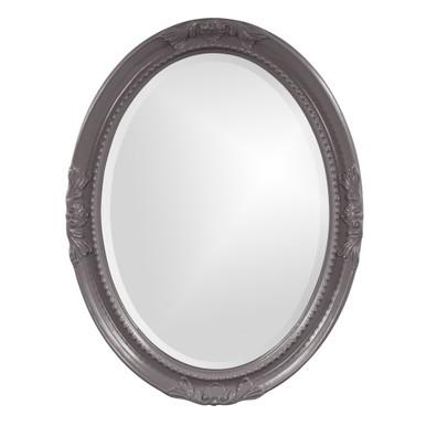 Queen Ann Mirror - Glossy Charcoal