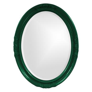 Queen Ann Mirror - Glossy Hunter Green