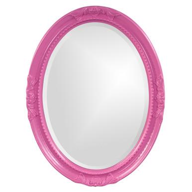Queen Ann Mirror - Glossy Hot Pink