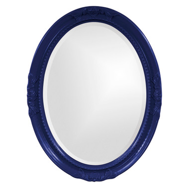 Queen Ann Mirror - Glossy Navy Blue