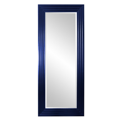 Delano Mirror - Glossy Navy Blue