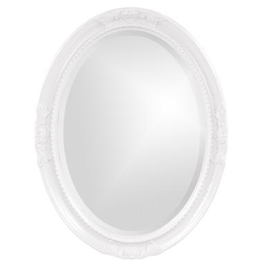 Queen Ann Mirror - Glossy White
