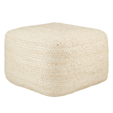Merritt Pouf - Antique White