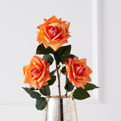 Real Touch Open Rose Spray - Set of 3