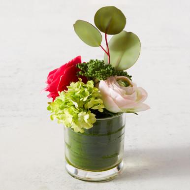 Ranunculus And Rose In Vase