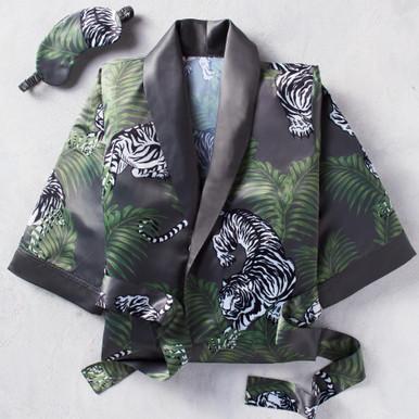 Tigress Robe Set - Charcoal