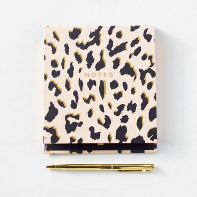 Cheetah Notepad With Pen