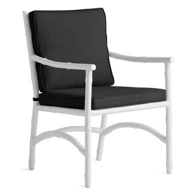 Savannah Outdoor Dining Arm Chair - Black