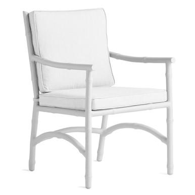 Savannah Outdoor Dining Arm Chair - Linen