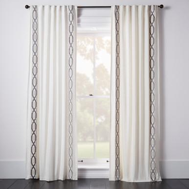 Chloe Border Window Panel - Geometric