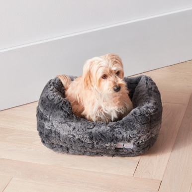 Faux Mink Bed - Charcoal
