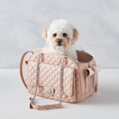 Vanderpump Quilted Classic Luxury Carrier - Blush