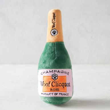 Woof Clicquot Rose Champagne Toy