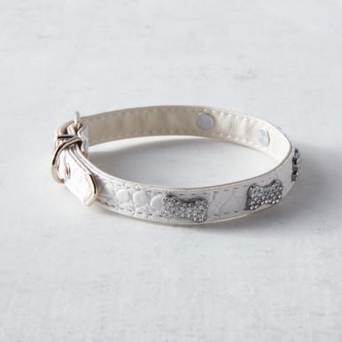 Crystal Bones Collar - White