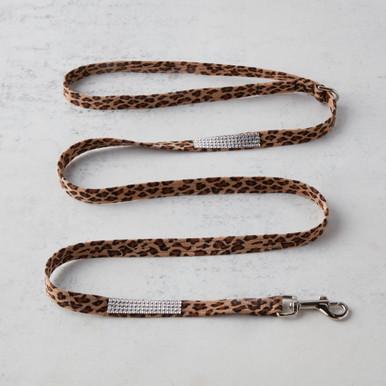 Swarovski Crystal Leash - Cheetah