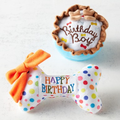 Birthday Dog Toy Set - Blue