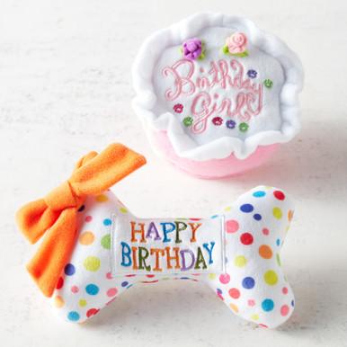 Birthday Dog Toy Set - Pink