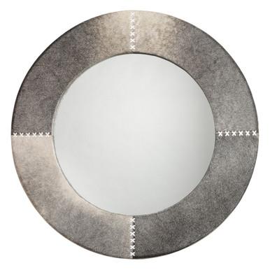 Round Cross Stitch Mirror - Grey