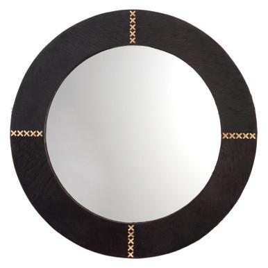 Round Cross Stitch Mirror - Espresso