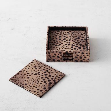 Leopard Coaster Set