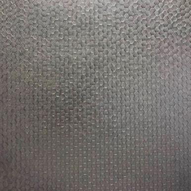 Carbon Pewter Honeycomb Geometric Wallpaper