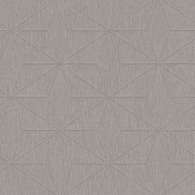 Bernice Silver Diamond Geometric Wallpaper