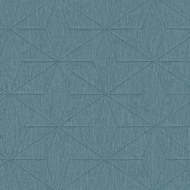 Bernice Teal Diamond Geometric Wallpaper
