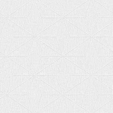 Bernice White Diamond Geometric Wallpaper