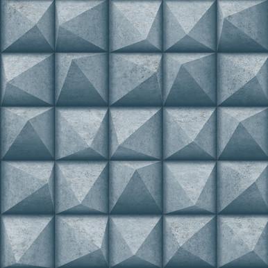 Dax Teal 3D Geometric Wallpaper