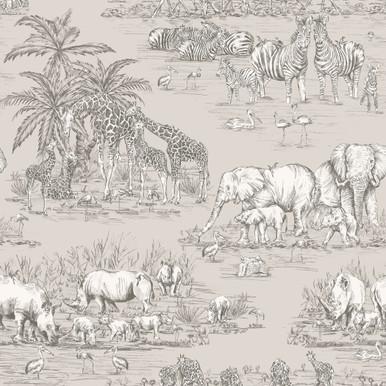 Durban Grey Watering Hole Wallpaper
