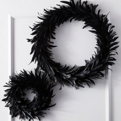 Feather Wreath - Black