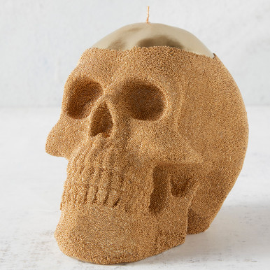 Skull Candle - Gold