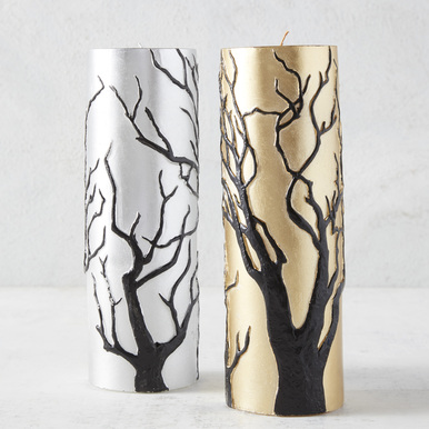 Tree Pillar Candle
